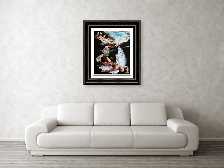 The Fallen by Vic Ritchey Framed Print on Wall