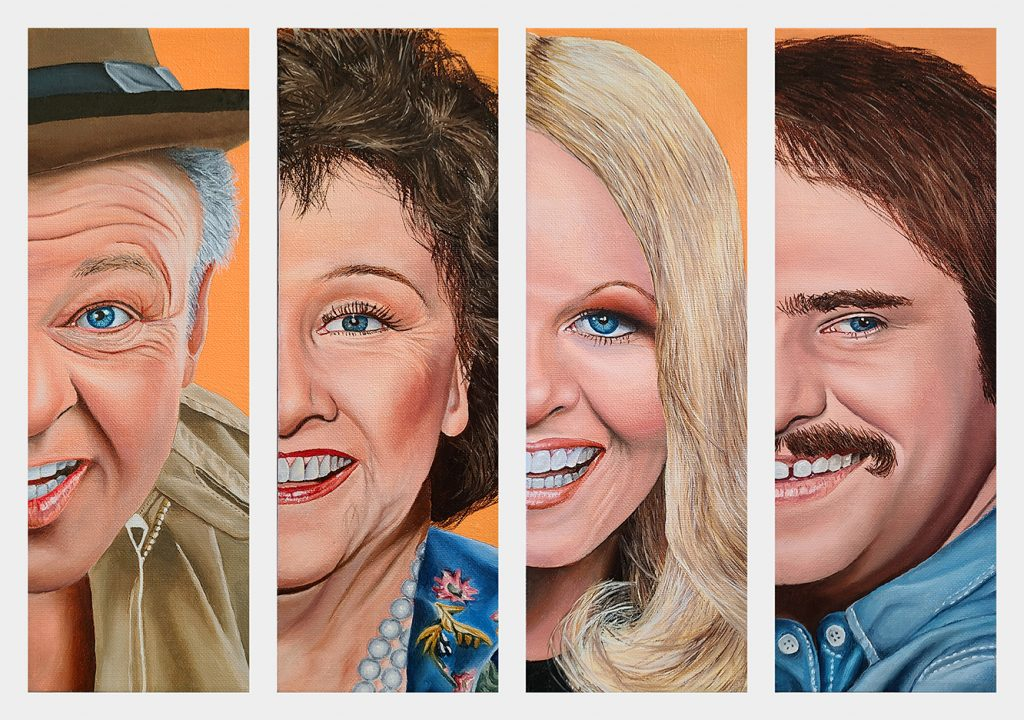 All in the Family, painting by Vic Ritchey